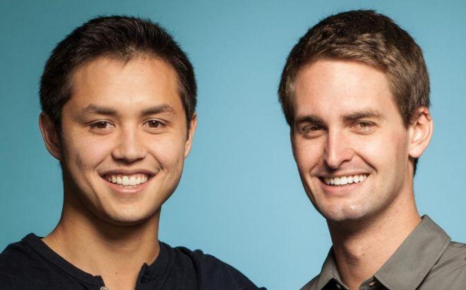 Los fundadores de Snapchat, BOBBY MURPHY Y  EVAN SPIEGEL