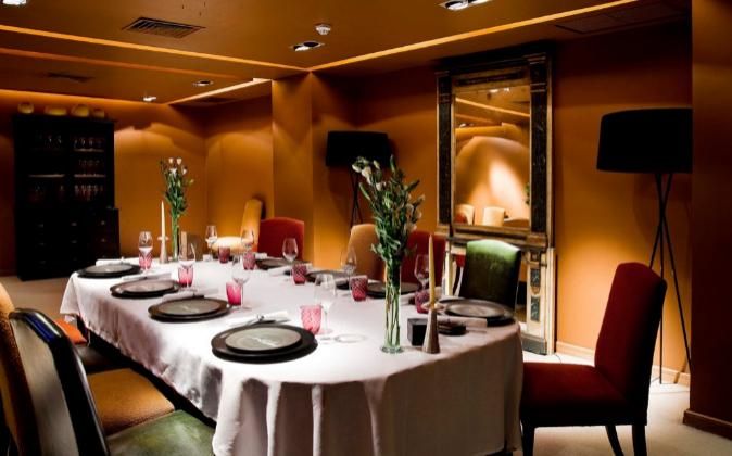 Reservado en Santceloni, en el Hotel Hesperia de Madrid.
