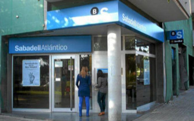Una sucursal de Banco Sabadell