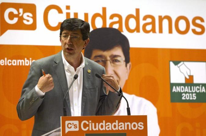 Juan Marín, candidato de Ciudadanos a la Junta de Andalucía.
