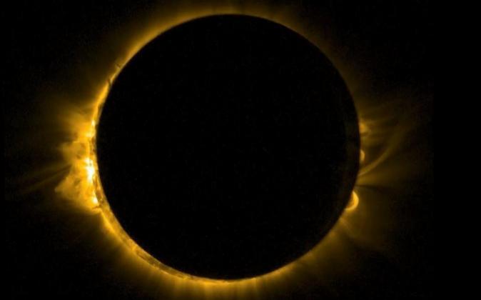 Imagen del eclipse del 20 de marzo de 2015.