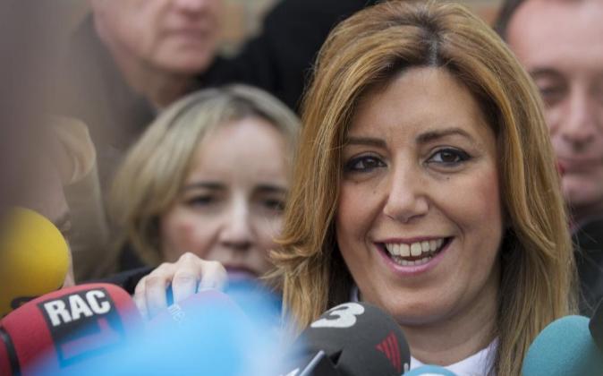 La presidenta andaluza, el sábado pasado.