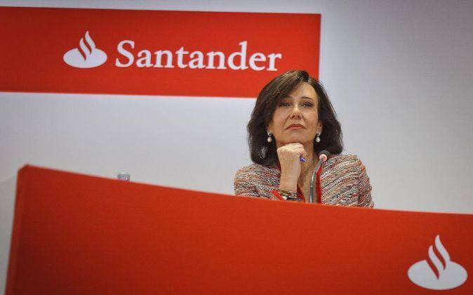 Ana Patricia Botín, en la última presentación de resultados de...