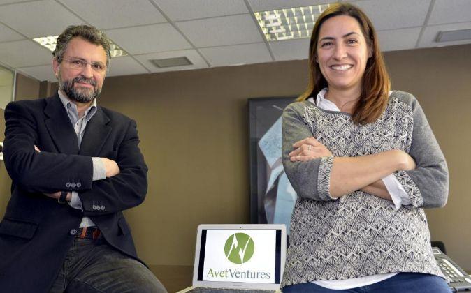Félix Arias y Mercè Tell, en la sede de Avet Ventures, en Barcelona.