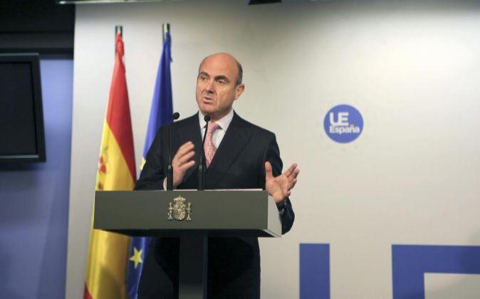 Luis de Guindos en Bruselas