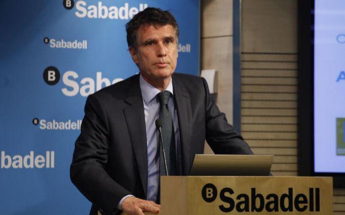 Jaume Guardiola, consejero delegado de Banco Sabadell...