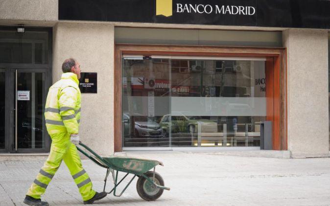 Oficina de Banco Madrid en Capitan Haya, Madrid.