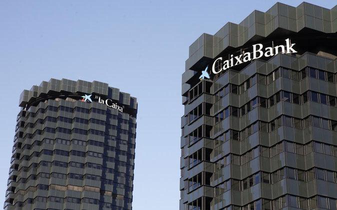 Las torres de CaixaBank y La Caixa, en Barcelona