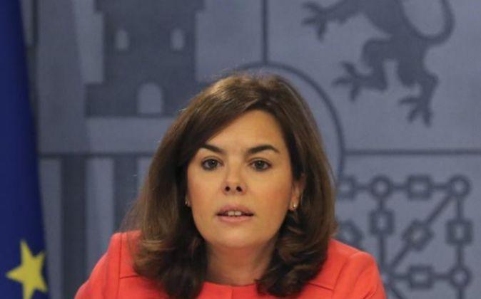 La vicepresidenta primera del Gobierno, Soraya Sáenz de Santamaría.