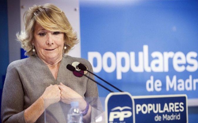 La presidenta del PP de Madrid y candidata a la alcaldía de la...