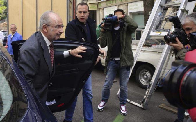 El exvicepresidente del Gobierno español Rodrigo Rato, llegando a su...