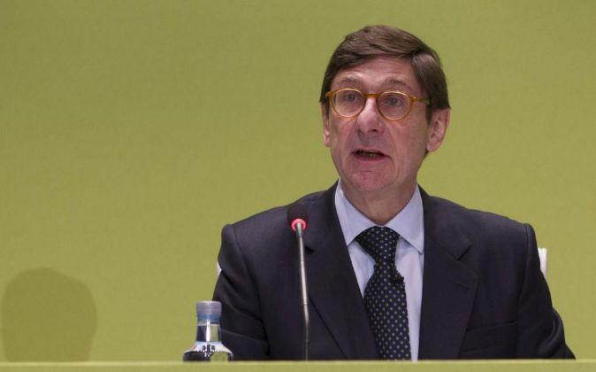 Jose Ignacio Goirigolzarri durante la Junta General de accionistas de...