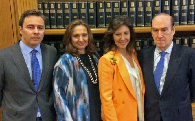 Dimás Gimeno, presidente de El Corte Inglés; Marta Álvarez Guil,...