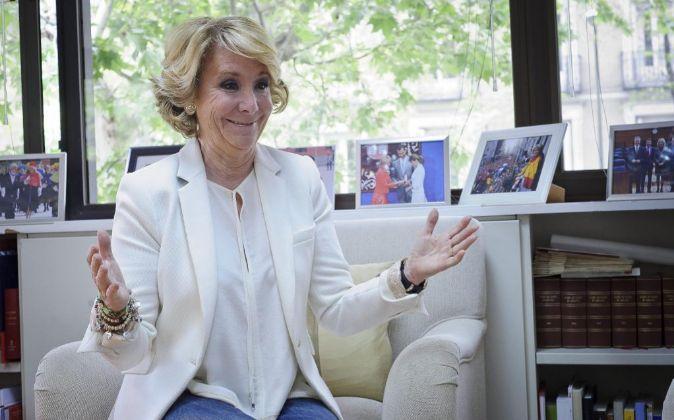 Esperanza Aguirre candidata del PP a la comunidad de Madrid.