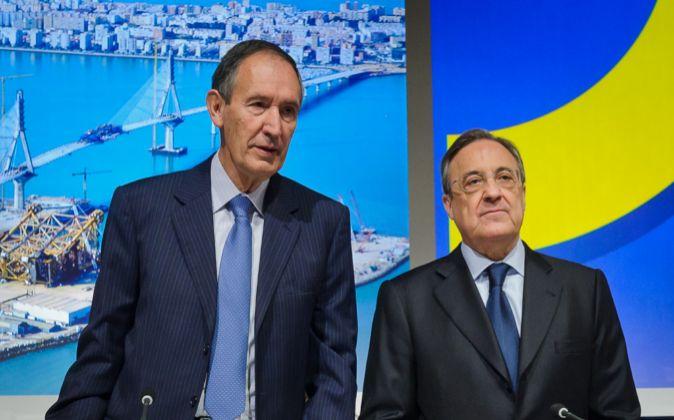 Florentino Pérez, hoy durante la junta de accionistas