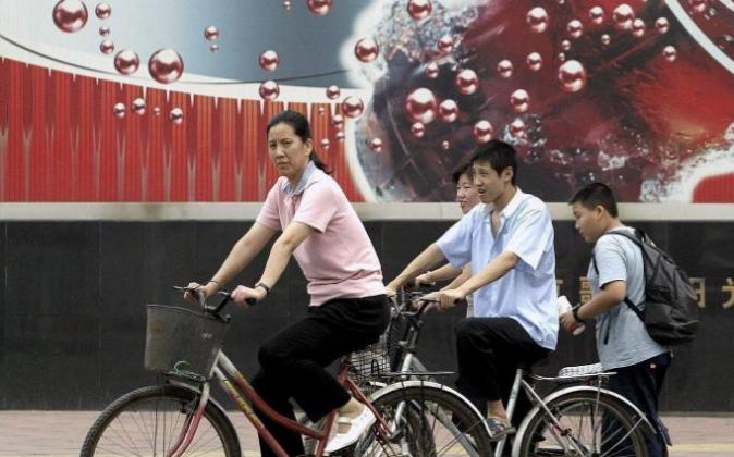 Anuncio de Coca Cola en Pekín.