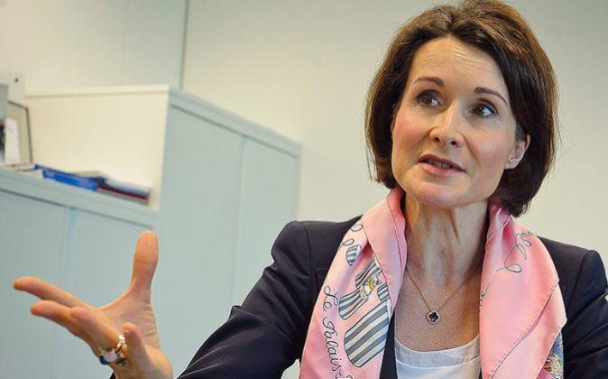 Sabine Hansen Peck en un momento de la entrevista realizada en Madrid.