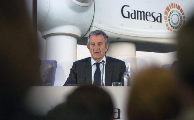 El Presidente de Gamesa, Ignacio Martín.