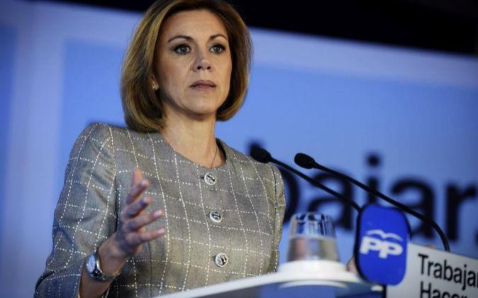La presidenta del PP de Castilla-La Mancha, María Dolores de...