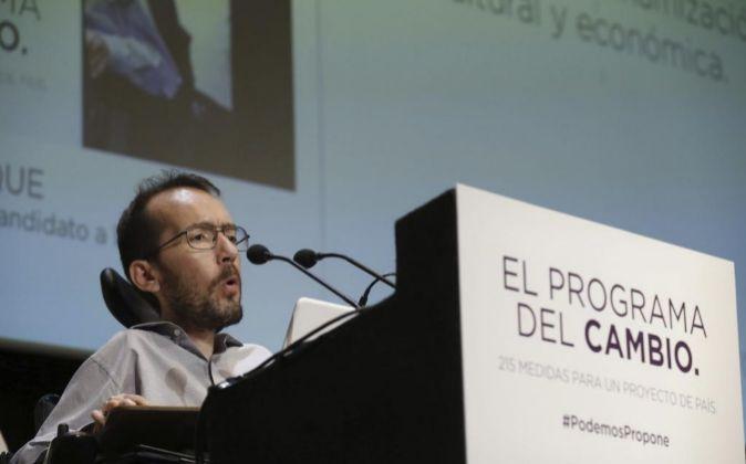 El candidato de Podemos a la Presidencia de Aragón, Pablo Echenique