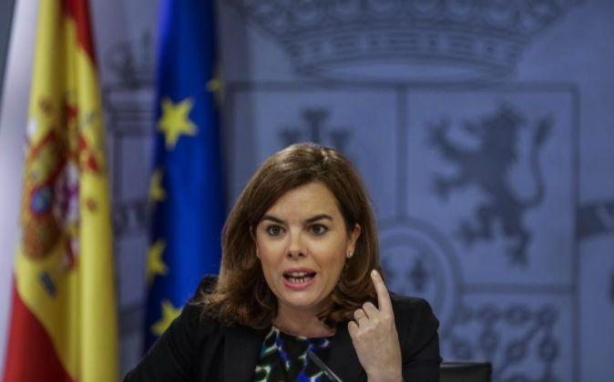 La vicepresidenta del Gobierno español, Soraya Sáenz de Santamaría.
