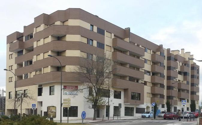 Bulevar de viviendas en alquiler en Getafe.