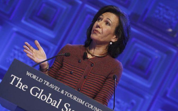 La presidenta del Banco Santander, Ana Botin.