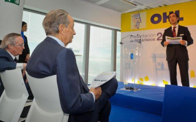 PRESENTACION DE RESULTADOS DE 2014 DE OHL, CON JUAN VILLAR MIR...