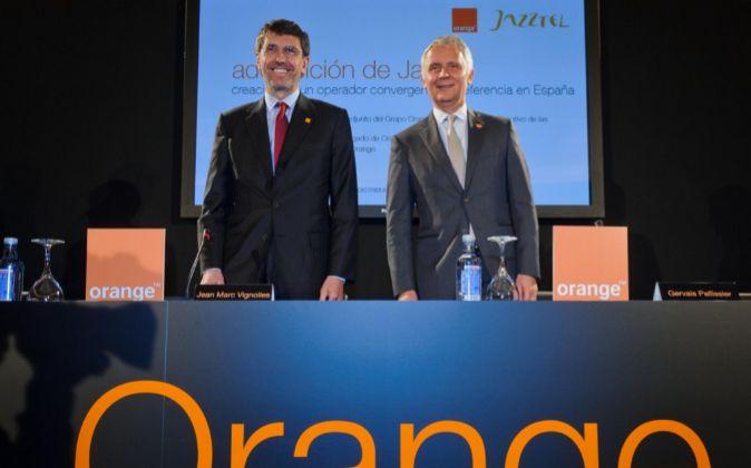 Gervais Pellissier, el responsable de Orange para Europa y ean Marc...