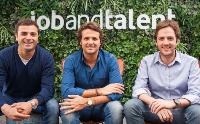 De izda a derecha: Félix Ruiz, presidente de Jobandtalent; Juan...