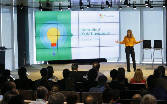 María Garaña, presidenta de Microsoft España.