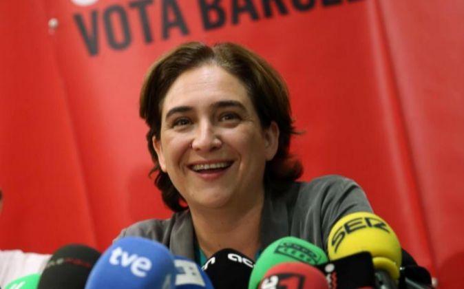 Ada Colau, ganadora de las elecciones por la alcaldía de Barcelona
