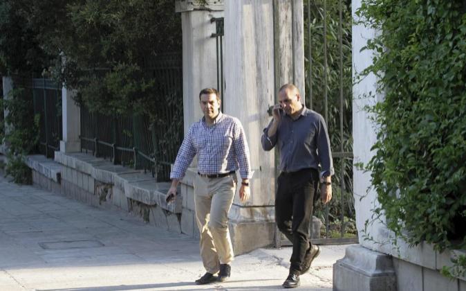 Tsipras y Varufakis, el pasado sábado.