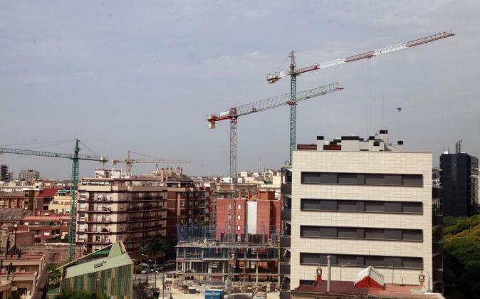 Edificios en construcción en Barcelona.
