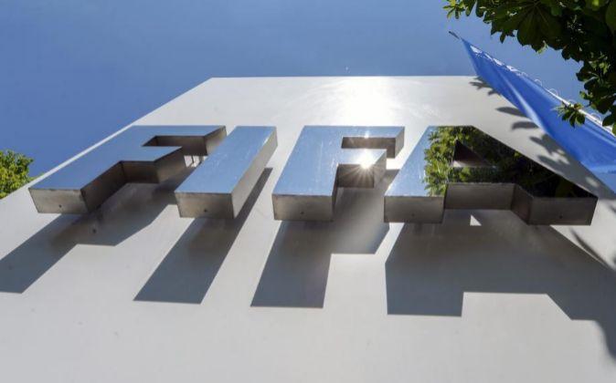 Fachada de la sede de la FIFA.