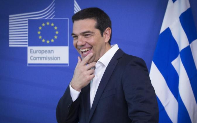 El primer ministro griego, Alexis Tsipras, hoy en Bruselas
