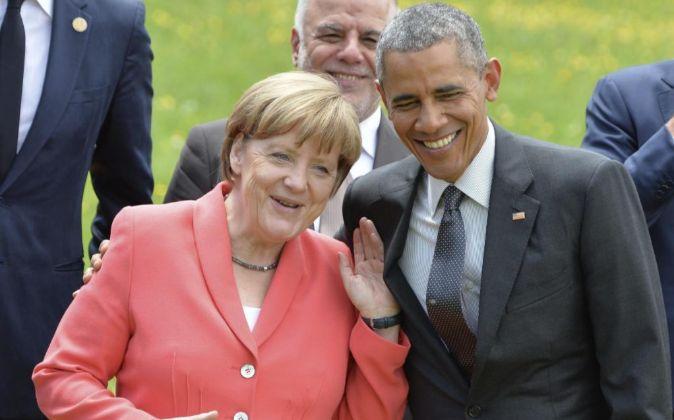 Angela Merkel y Barack Obama