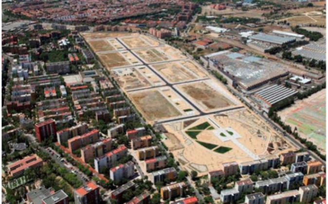 Imagen de los terrenos del antiguo Parque de Ingenieros en Villaverde,...