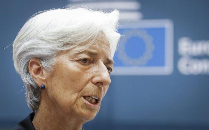 La directora gerente del FMI; Christine Lagarde.