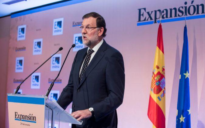 Mariano Rajoy en el evento de Expansión