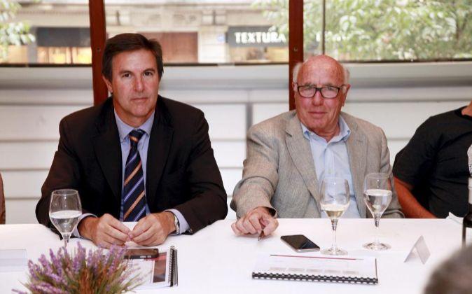 Salvador Fernandez, director general de Cementos Molins, y Joan...