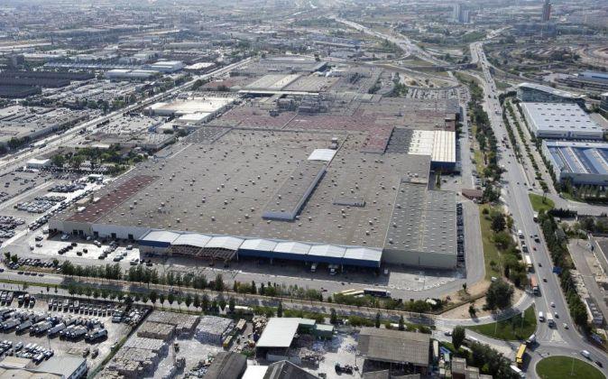 Vista aérea de la planta de Nissan en Barcelona.