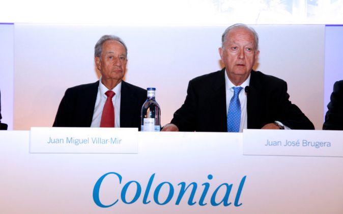 Juan MIguel Villar Mir, primer accionista de Colonial, y Juan José...