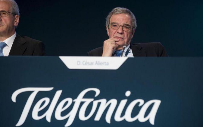 César Alierta, presidente ejecutivo de Telefónica.