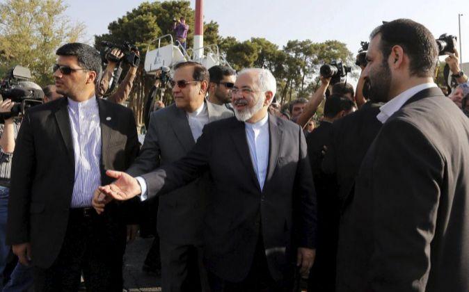 El ministro de Exteriores iraní, Mohamad Javad Zarif, este miércoles...
