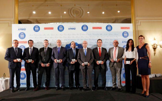 Algunos de los premiados por ACTUALIDAD ECONÓMICA y KPMG.