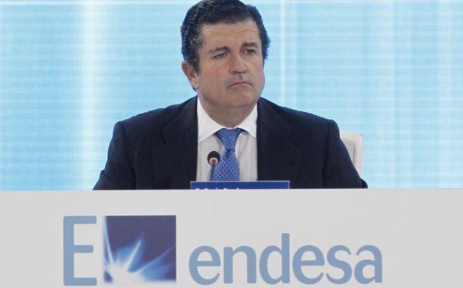 Borja Prado, presidente de Endesa, en la Junta de accionistas de la...