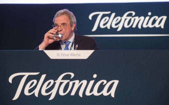 César Alierta es el presidente de Telefónica.