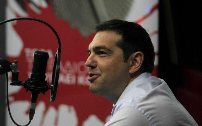 El primer ministro griego, Alexis Tsipras, ayer.