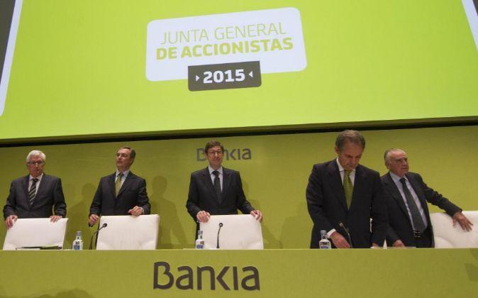 JUNTA GENERAL DE ACCIONISTAS 2015 DE BANKIA, CON SU PRESIDENTE JOSE...